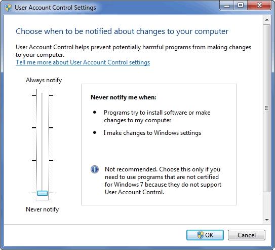 Guides : Turn off UAC in Windows 7, 8, \u0026 10   SentryPC